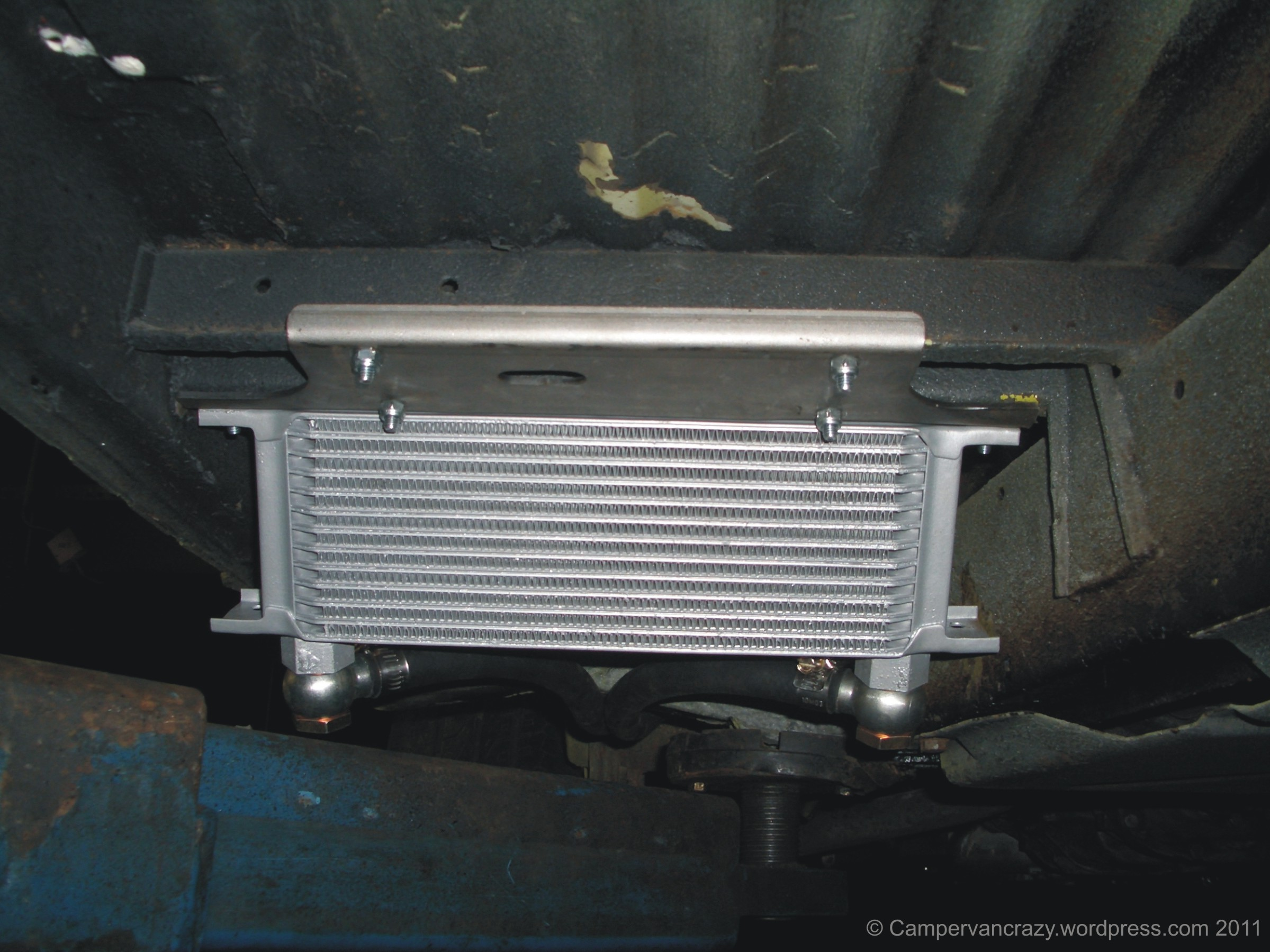 External oil cooler | Campervan Crazy
