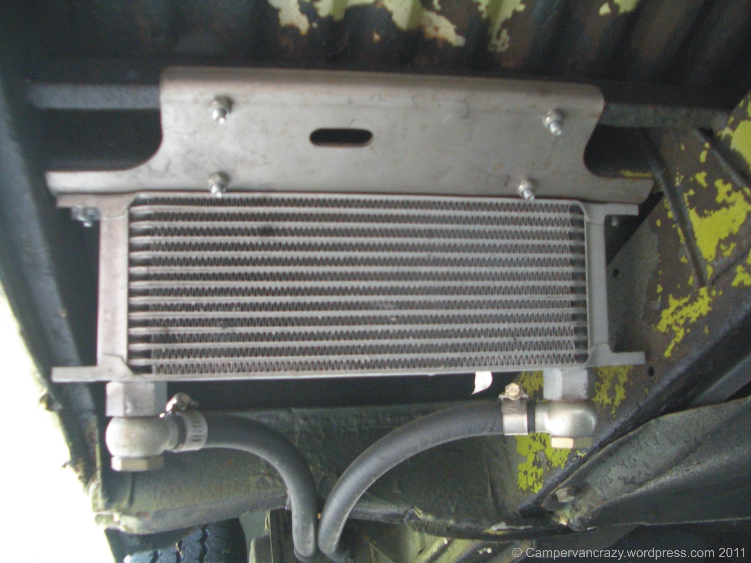 External oil cooler   Campervan Crazy