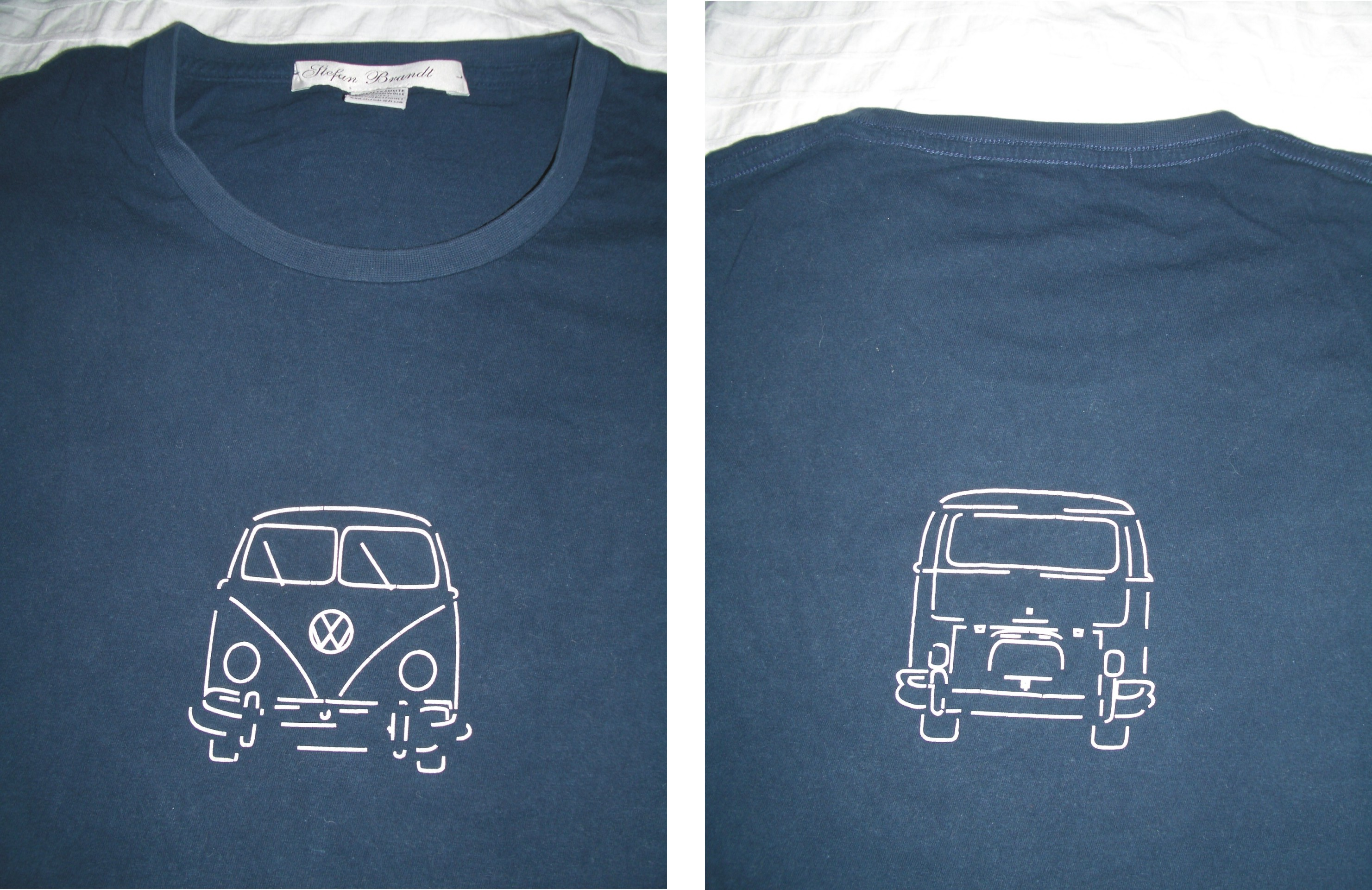 Vw bus t shirts campervan crazy for Shirts with graphics on the back