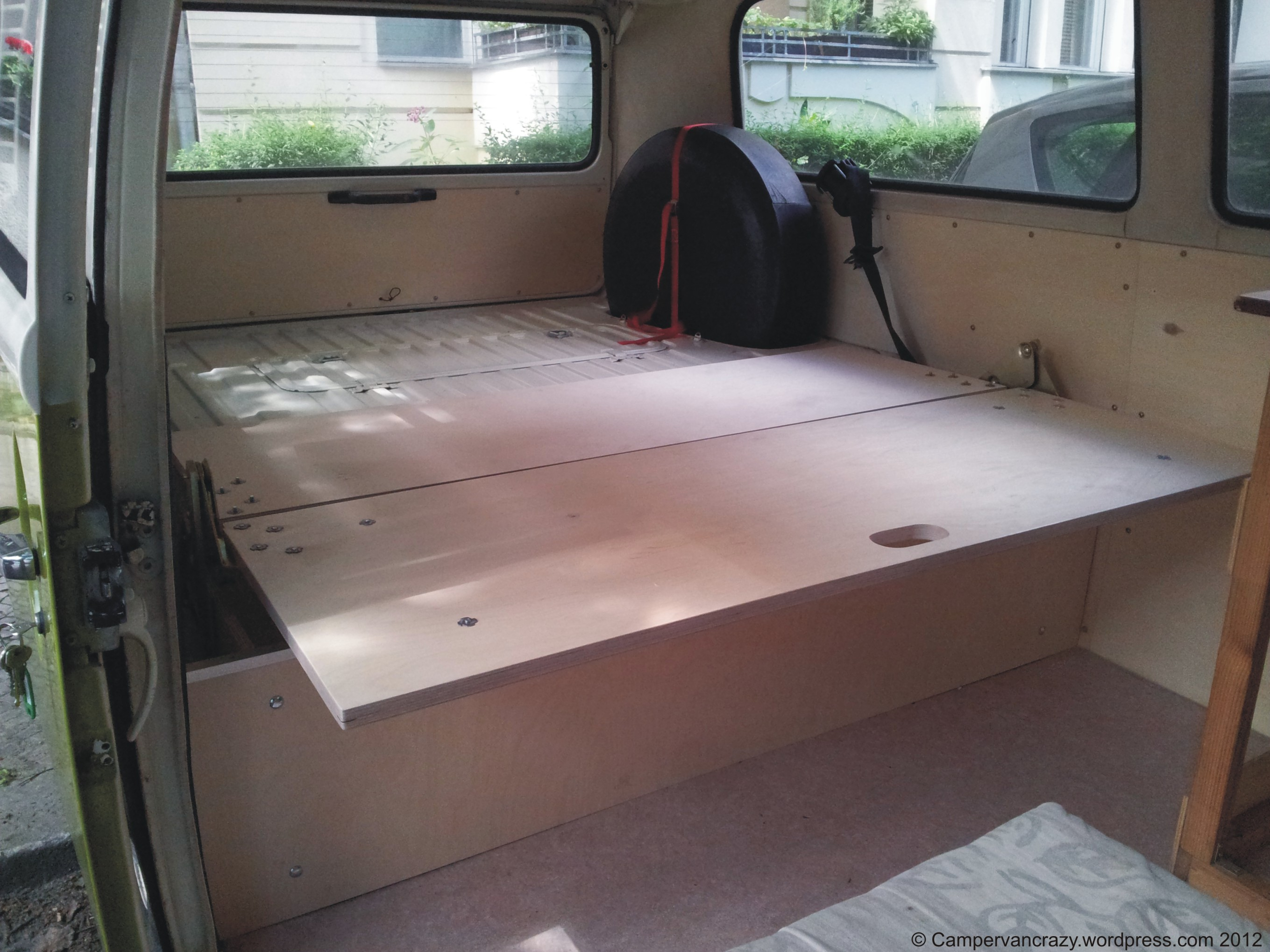 Rock And Roll Bed Construction Campervan Crazy