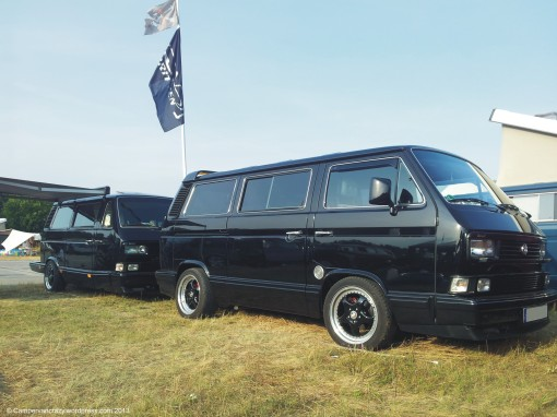 T3/T25 microbus with matching T3-derived trailer.