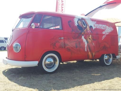 Early splittie from 1959, used as promo van for an internet travel portal.