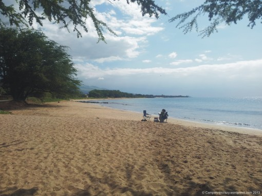Beach near Kihei on Maui, Hawaii.