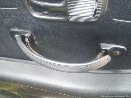 Worn out door handle.