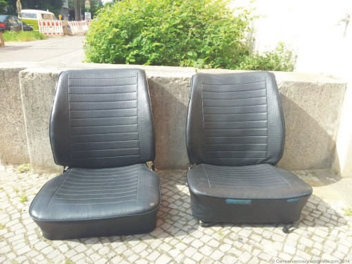 The old seats from our 1976 VW L bus...