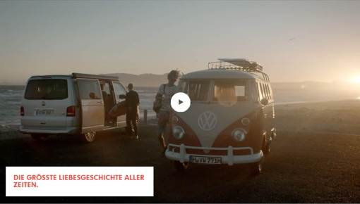 Screenshot of the Volkswagen Commercial Vehicles web site (http://lovetheoriginal.com/de/de/)