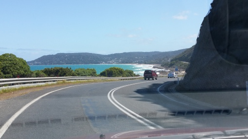 Great Ocean Road going into Lorne.